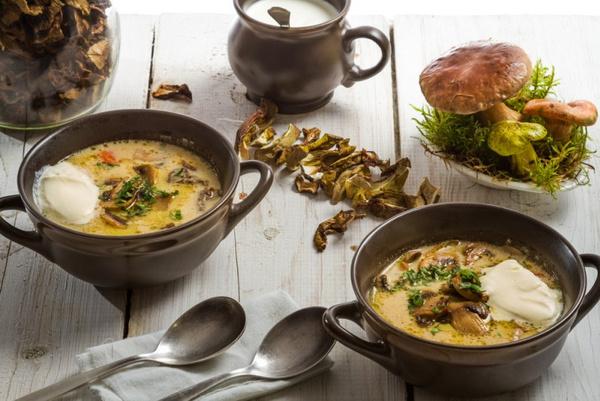 Сушеные грибы для супа