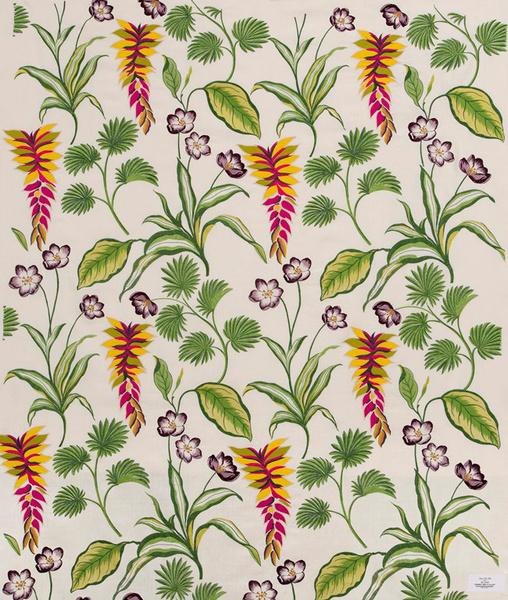 Ткань c вышивкой, коллекция Aloha, Pierre Frey.