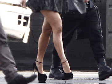Дженнифер Лопес (Jennifer Lopez) перед съемками American Idol