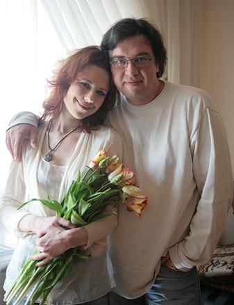 Юта с мужем Олегом Осиповым, фото
