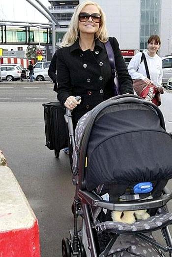 Эмма Бантон с сыном Бо