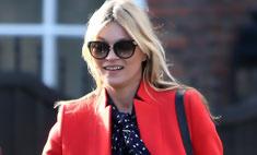Весенний тренд: Кейт Мосс в ярком пальто