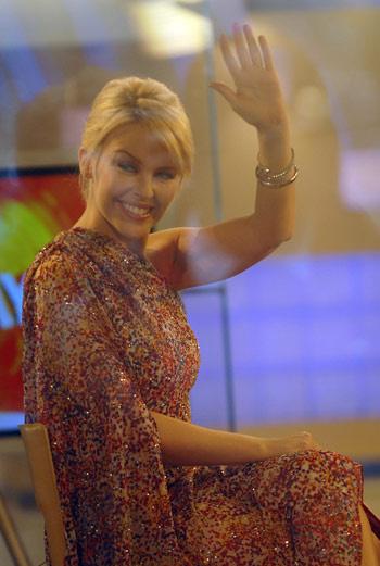 Австралийская певица в эфире телешоу «Today Show».