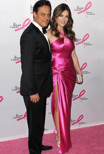 Лиз Херли в розовом платье (май 2009 года)