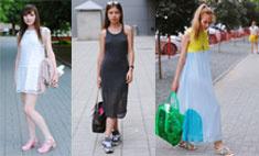 Уличная мода: девушки в летних платьях