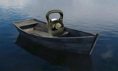 Логическая головоломка недели: лодка с гирей