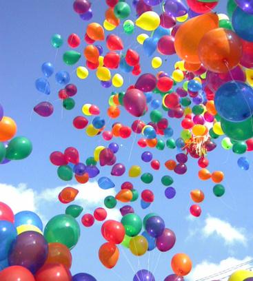 Запустить тысячу воздушных шаров