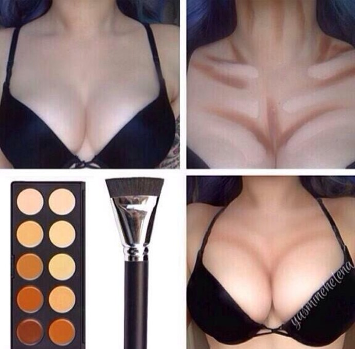 как сделать грудь меньше
