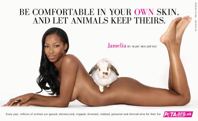 Британская певица Jamelia: «Тебе ведь комфортно в своей коже, позволь и животным сохранить свою»