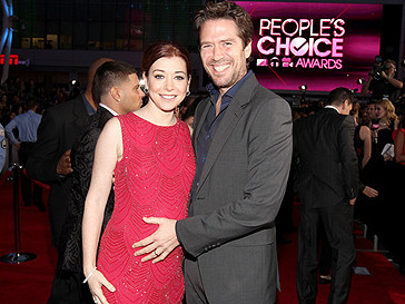 Беременная Элисон Ханниган с супругом.