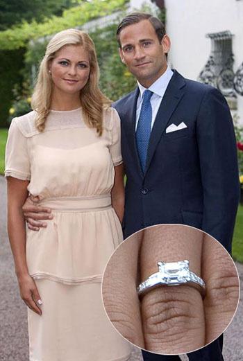 Принцесса Швеции Мадлен и ее жених Джонас Бергсторм