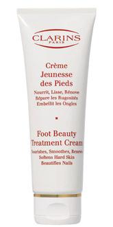 Омолаживающий крем Creme Jeunesse des Pieds от Clarins питает, разглаживает кожу стоп, убирает шероховатости, возвращает коже ощущение легкости и комфорта.