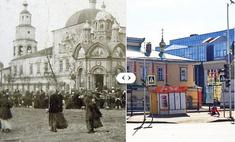 Взгляд назад: 20 фотографий с видом на мечети и церкви Казани. Сравни!