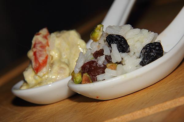 Экзотический рис к индейке под соусом «карри»