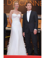 Ума Турман в платье Versace