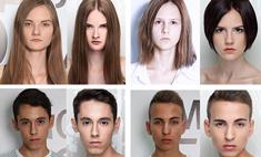 Модели до и после макияжа
