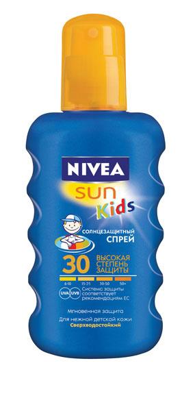 Цветной солнцезащитный спрей от NIVEA SUN Kids