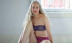 62-летняя модель рекламирует нижнее белье