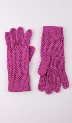 Вязаные перчатки с перфорацией