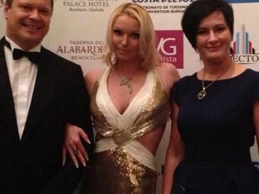 Анастасия Волочкова посетила благотворительный бал в Марбелье