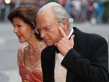 Король Швеции Карл Густав и его жена Сильвия