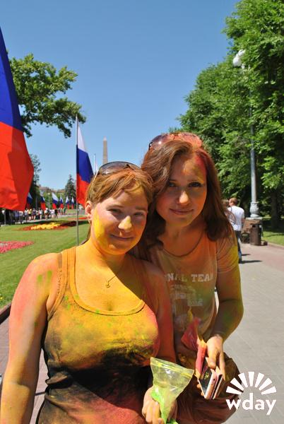Фестиваль красок холи Волгоград фото