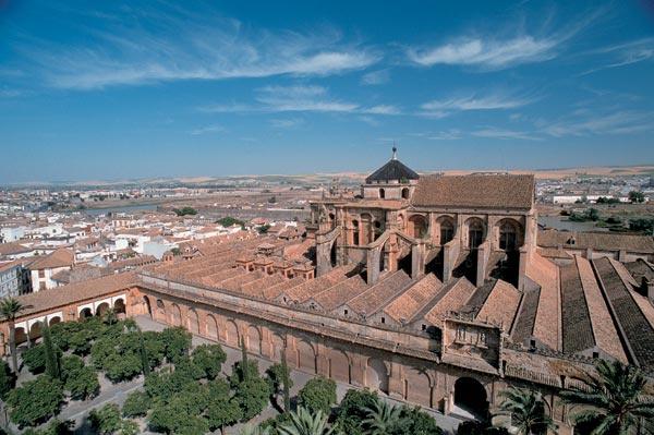 На переднем плане — тот самый Апельсиновый двор при мечети, крупнейшее патио города (98 деревьев, 130х50 м)
