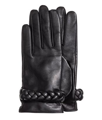 Кожаные перчатки с отделкой