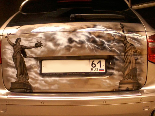 Аэрография на авто: фото
