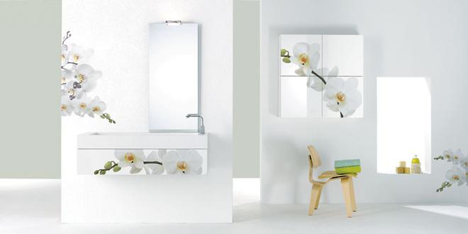 Мебель для ванной с фотопринтами, коллекция Tanteante Decor, Branchetti, www.fbranchetti.com.