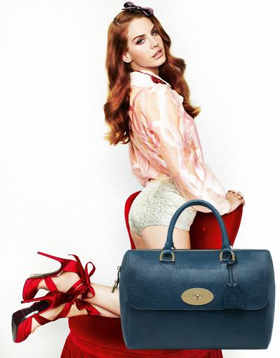 Лана Дель Рей (Lana Del Rey), сумка Mulberry