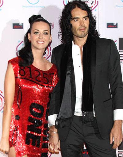 Кэти Пэрри (Katy Perry) и Рассел Брэнд (Russell Brand)