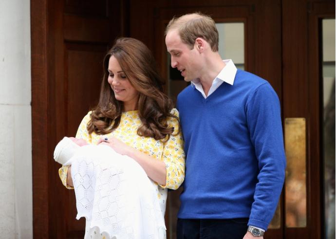 Первые фото новорожденной принцессы
