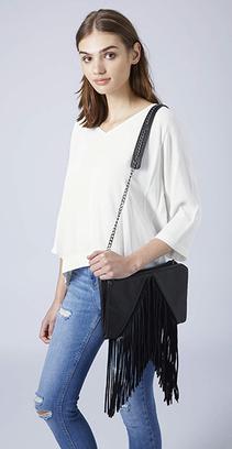 сумочка с бахромой
