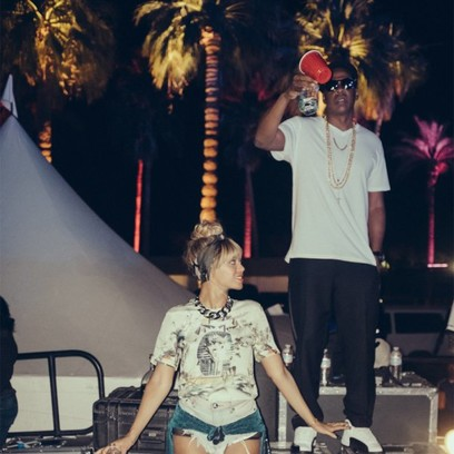 Бейонсе и Джей Зи на фестивале Coachella
