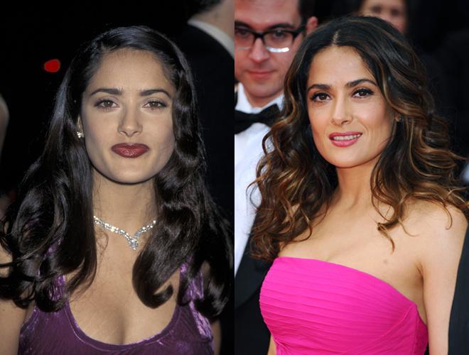Сальма Хайек до и после пластики фото