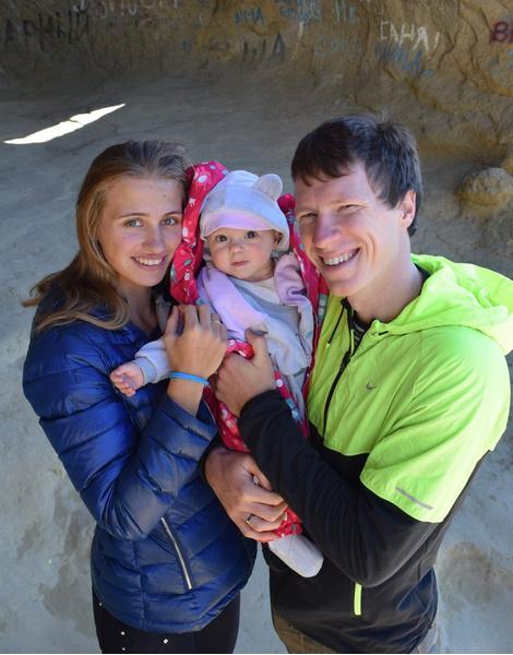 Триатлонист Дмитрий Полянский с семьей