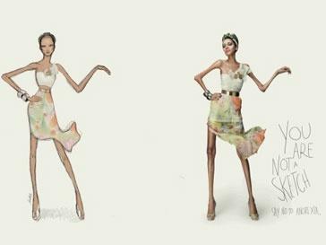 Рекламная кампания Star Models против анорексии