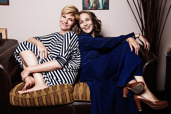 Анна Ардова и ее дочь София.