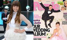 Розовое облако: секрет свадебного платья Джессики Бил