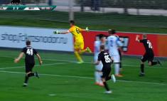 российский вратарь прибежал чужую штрафную забил победный гол