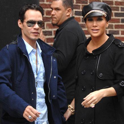 Дженнифер с мужем Марком Энтони
