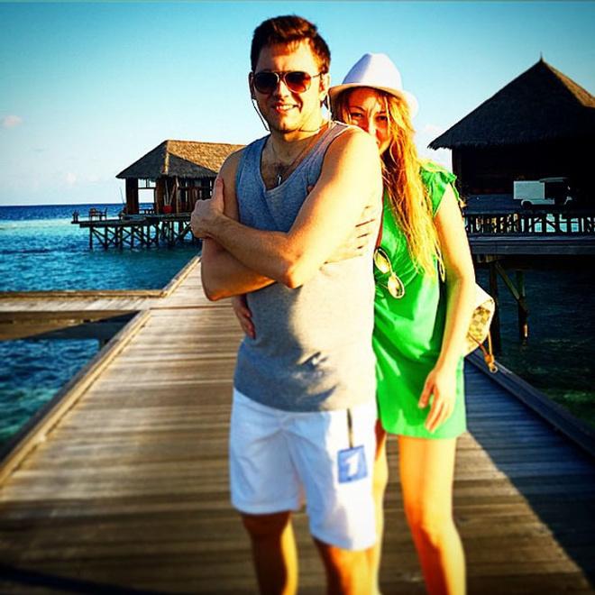 Ирина Дубцова и Леонид Руденко, Мальдивы