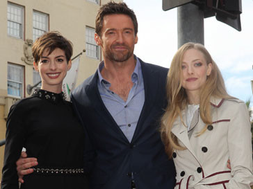 Хью Джекман (Hugh Jackman), Энн Хэтэуэй (Anna Hathaway) и Аманда Сейфрид (Amanda Seyfried)