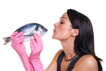 Полноценный животный белок в большом количестве содержится в рыбе.