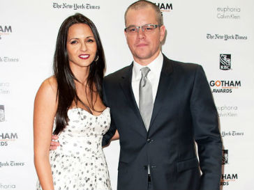 Мэтт Дэймон (Matt Damon) и Лучия Баррозо (Luciana Barroso)