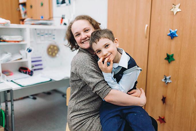 Александра Иванская, журналист, и ее сын Ваня