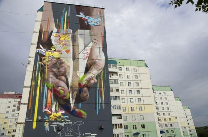 граффити, абстракция, музей городов европы и азии, Магнитогорск