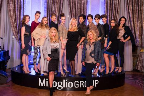 Екатерина Одинцова с моделями