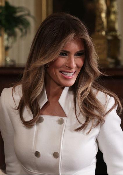 мелания трамп какой цвет волос